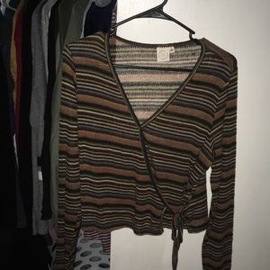 Tops - Striped 70's Vibe Blouse